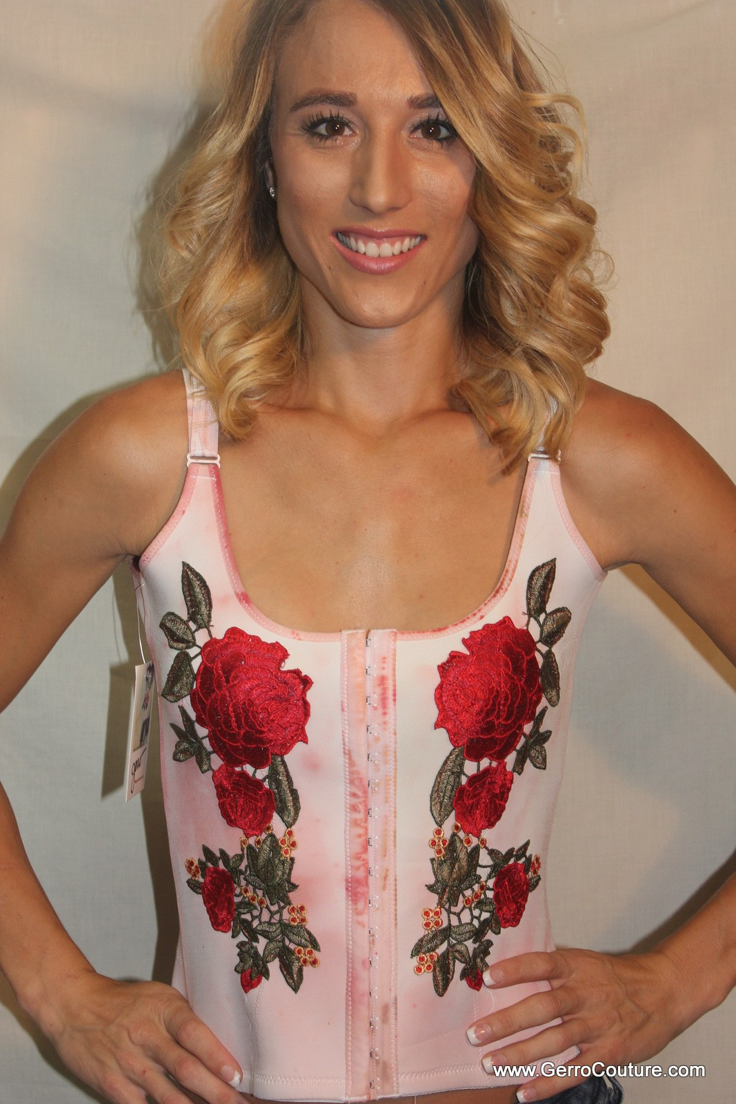 Corset Red Roses 0568